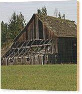 Blue Mountain Barn Wood Print