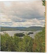 Blue Mountain Lake Wood Print