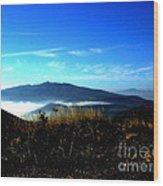 Blue Mountain Landscape Umbria Italy Wood Print