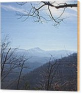 Blue Mountain Sky Wood Print