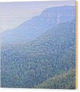 Blue Mountains Panorama Wood Print