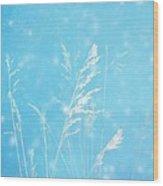Blue Nature Wood Print