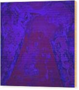 Blue Night Angel Wood Print