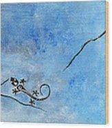 Blue Nile Lizard Wood Print