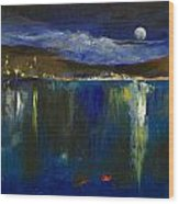 Blue Nocturne Wood Print by Michael Creese