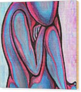 Blue Nude   Without Name Wood Print