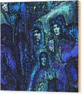 Blue O'clock Cloisters Wood Print