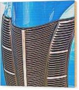 Blue Oldie Wood Print