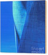 Blue On Blue Cropped Version Wood Print