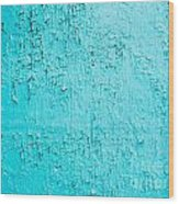 Blue Paint Background Grungy Cracked And Chipping Wood Print