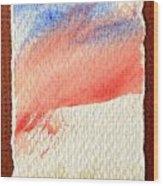 Blue Paint Wood Print