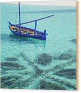 Blue Peace. Maldives Wood Print