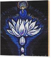 Blue Pearl Wood Print by Lorah Buchanan