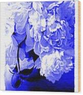 Blue Peony Wood Print