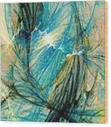 Blue Phoenix Wood Print