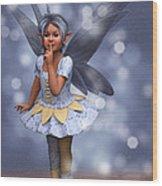 Blue Pixie Wood Print