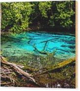 Blue Pool Wood Print