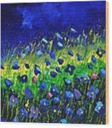 Blue poppies 674190 Wood Print