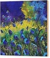 Blue poppies 7741 Wood Print