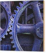 Blue Power Wood Print