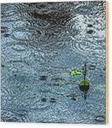 Blue Rain - Featured 3 Wood Print by Alexander Senin