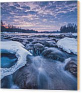 Blue Rapids Wood Print by Davorin Mance