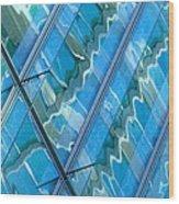 Blue Reflection 3 Wood Print