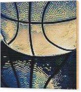 Blue Basketball Wood Print