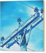 Blue Relay Wood Print by Wendy J St Christopher
