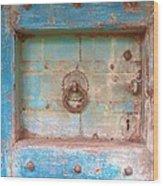 Blue Relic Wood Print