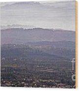 Blue Remembered Hills Wood Print
