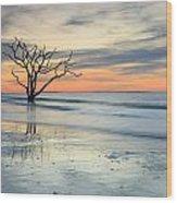 Blue Reverence Charleston Sc Ocean Sunrise Wood Print