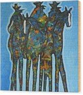 Blue Riders Wood Print