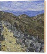 Blue Ridge 1 Wood Print