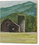 Blue Ridge Barn Wood Print