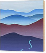 Blue Ridge Blue Road Wood Print by Catherine Twomey