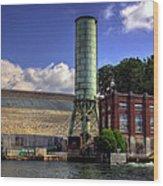 Blue Ridge Dam Wood Print