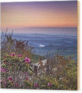 Blue Ridge Dawn Wood Print