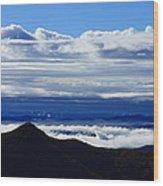 Blue Ridge Fog-north Carolina Wood Print