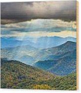 Blue Ridge Glory Wood Print