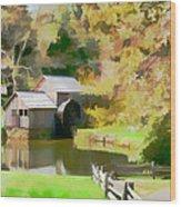 Blue Ridge Grist Mill Wood Print