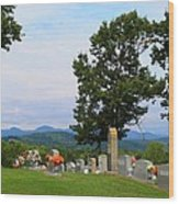 Blue Ridge Mountain Cemetery Wood Print