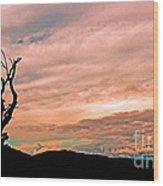 Blue Ridge Mountain Sunrise Panoramic  Wood Print