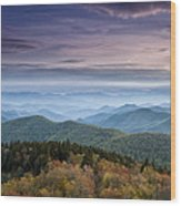 Blue Ridge Mountains Dreams Wood Print by Andrew Soundarajan