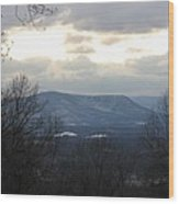 Blue Ridge Mountains In Winter Wood Print