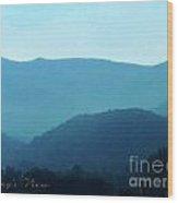 Blue Ridge Mountains Wood Print by Lorraine Heath