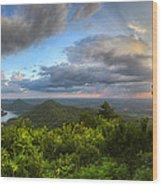 Blue Ridge Mountains Panorama Wood Print