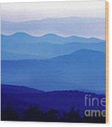 Blue Ridge Mountains Shenandoah National Park Wood Print
