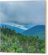Blue Ridge Parkway National Park Sunrise Scenic Mountains Summer Wood Print