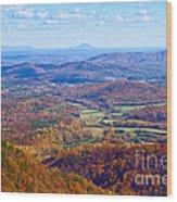 Blue Ridge Parkway Overlook Wood Print